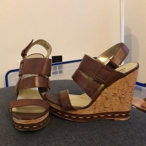 Charles by Charles David Camel and Cork Wedges